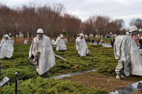 Memorial a los Veteranos de la Guerra de Corea en Washington D.C