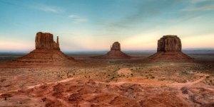 Mittens y Merrick Butte, icónos de Monument Valley