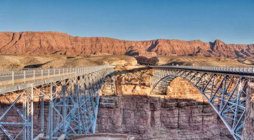 Navajo Bridge al norte del Gran Cañón del Colorado