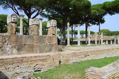 Ruinas romanas en Ostia Antica. Foto de Nicolas Vollmer