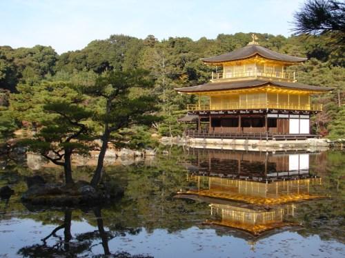 Pabellón Dorado de Kioto o Kinkaku-Ji, uno de los templos más visitados de Kioto