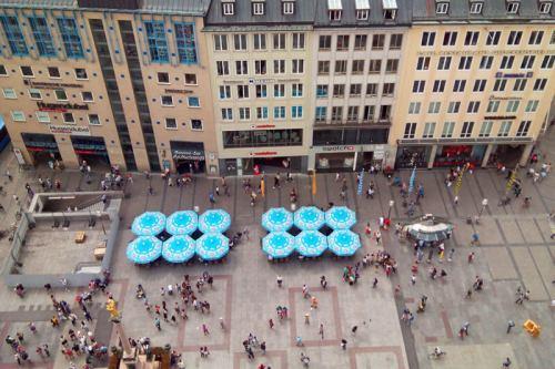 Marienplatz, centro de la vida social y cultural de Múnich