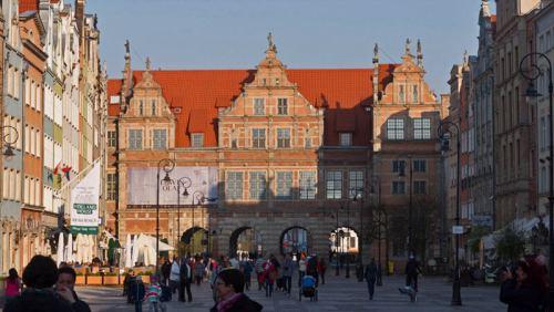 Puerta Verde (Brama Zielona) al final de la Ruta Real de Gdansk