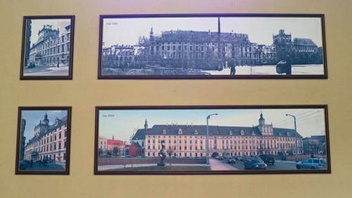 Imágenes de la reconstrucción de la Universidad de Breslavia tras la II Guerra Mundial