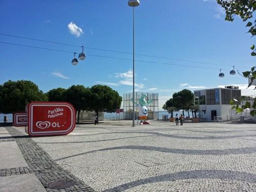 Teleférico en el Parque de las Naciones, atracciones de Lisboa