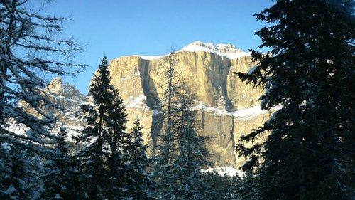 Conjunto montañoso de las Dolomitas, en los Alpes