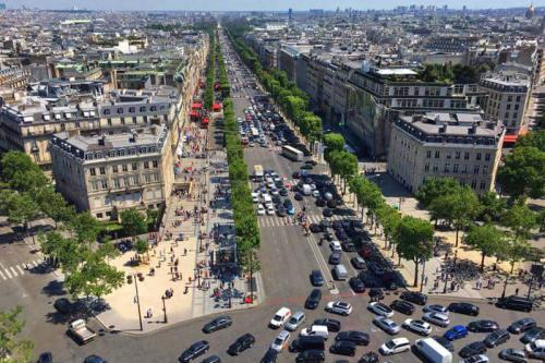 Vistas de París desde el Arco del Triunfo