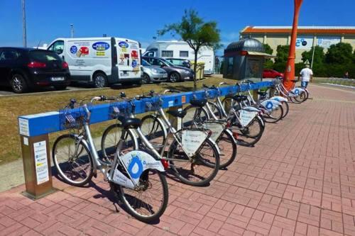 Servicio público de alquiler de bicicletas en La Coruña