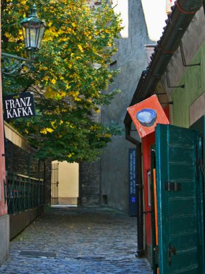 Casa de Franz Kafka en el Callejón del Oro del Castillo del Praga