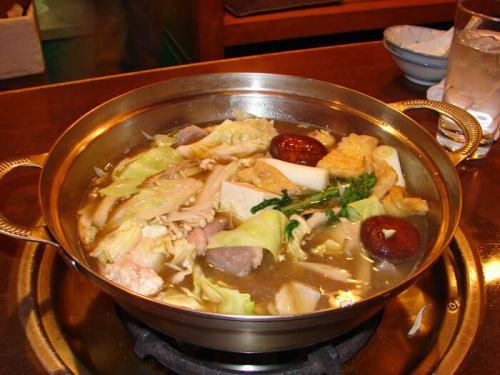 Chanko-nabe en un restaurante de Ryogoku