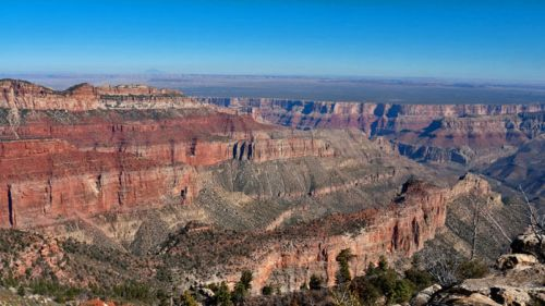 Acceso sur (South Rim) al Gran Cañón del Colorado