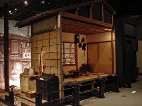 Réplica de una casa japonesa tradicional en el Museo Edo-Tokyo