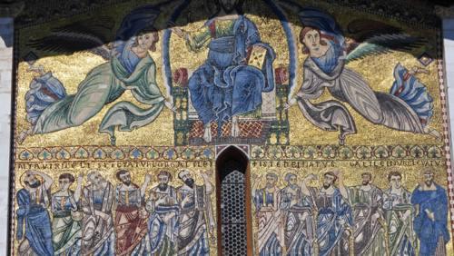 Detalle del mosaico de la Basílica de San Frediano