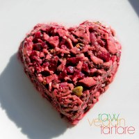 Raw Vegan Portobello and Beet Tartare