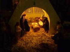 Nativity. Notice that the manger is a Camargue style house. Also notice la croix de Camargue