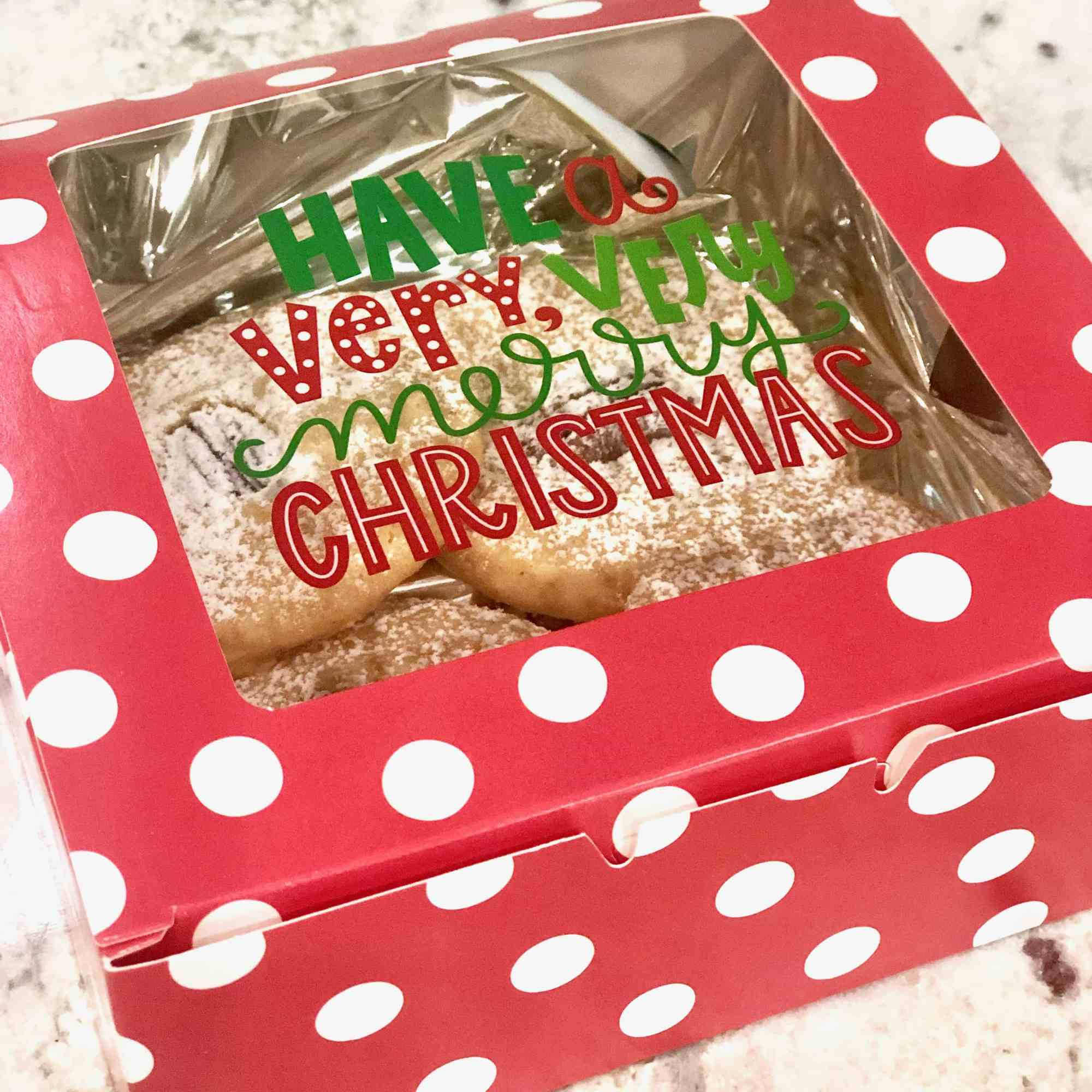 cheese biscuits in christmas gift box