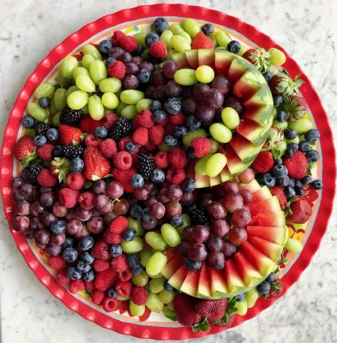 fruit on a platter