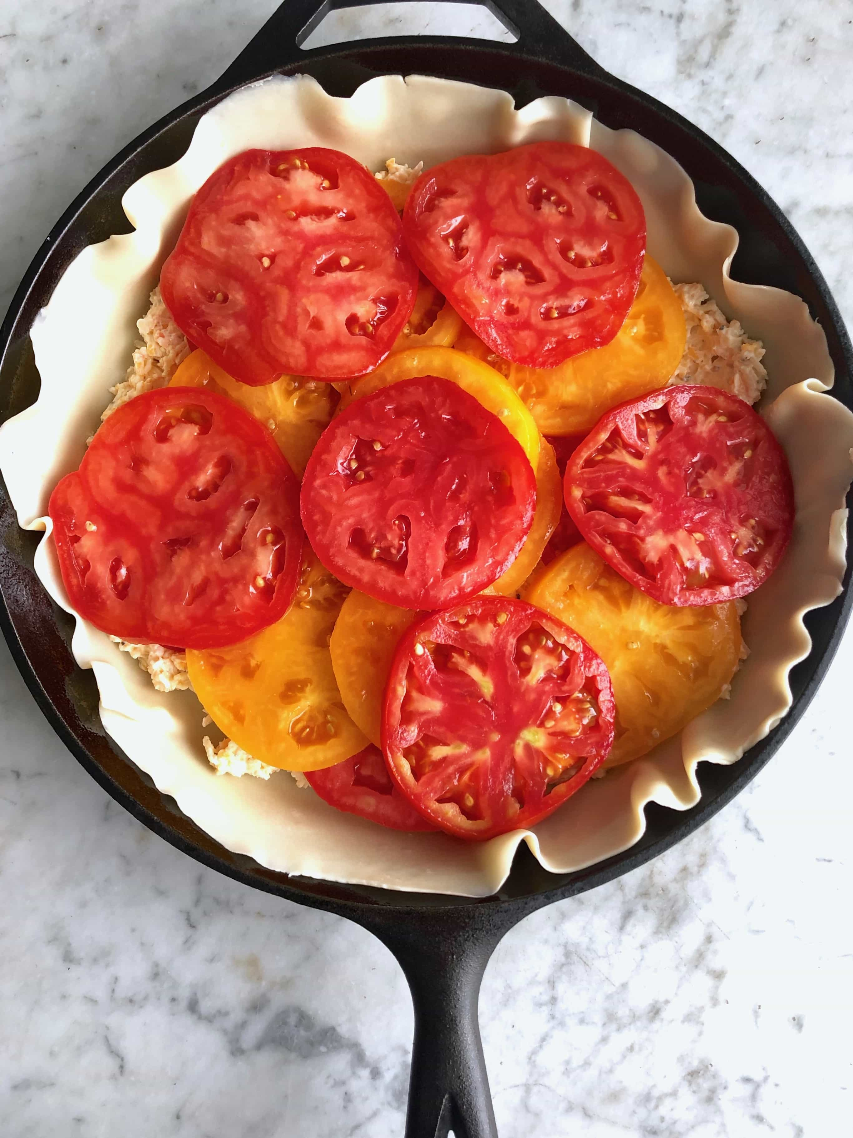 tomatoes in a skillet