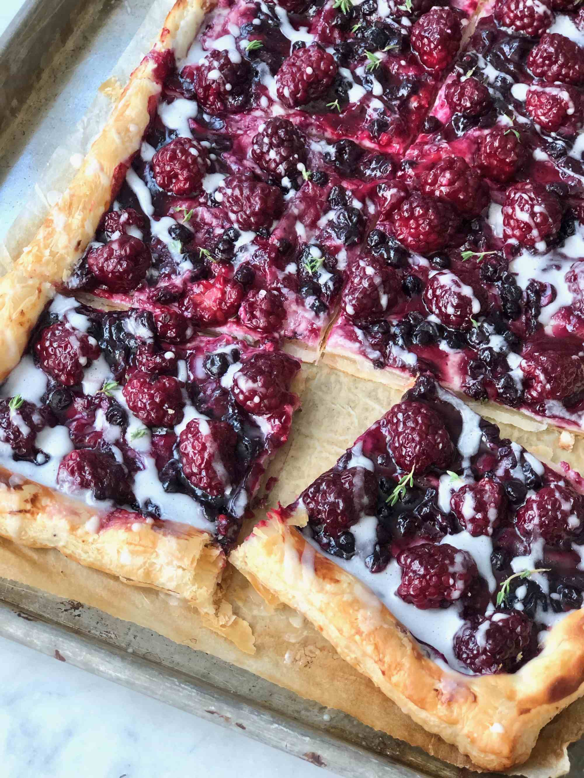 Blackberry Cheese Danish