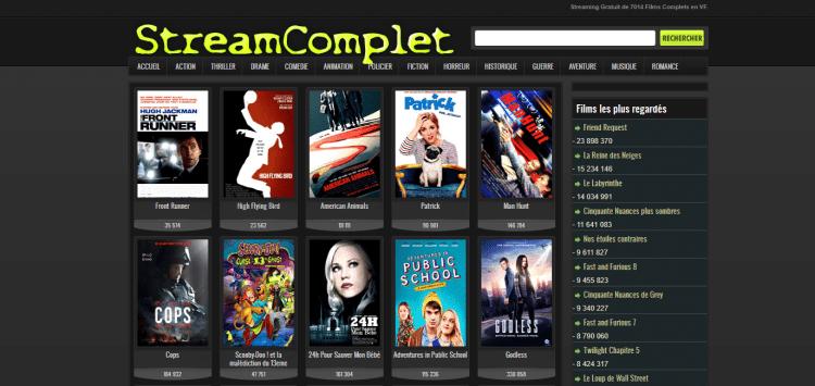 StreamComplet une autre alternative pour regarder un film en streaming.