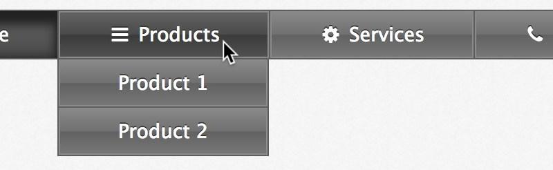 WordPress menu hover no link