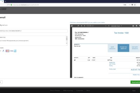New Improvements To Invoice Emails   QuickBooks Australia Current save and send screen with PDF preview