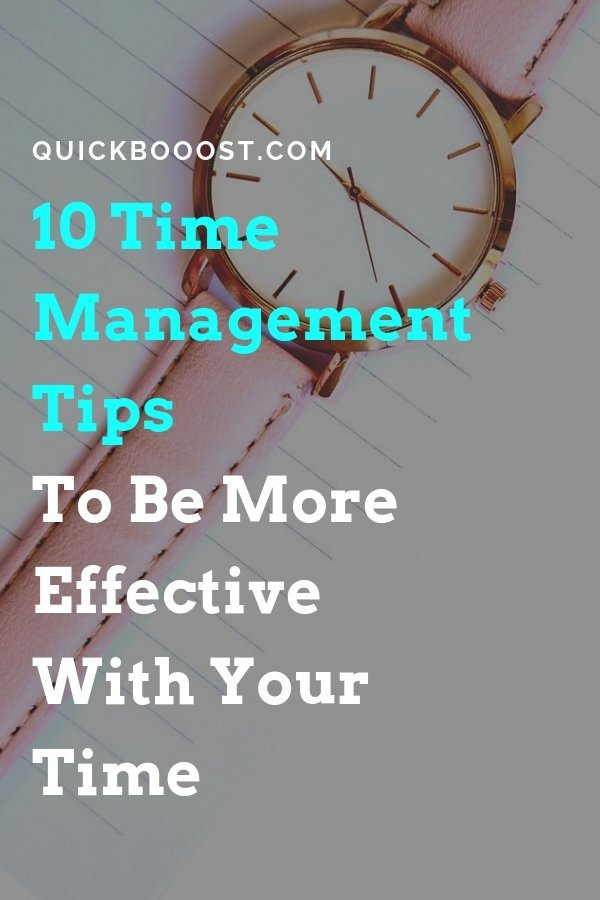 10 awesome time management tips that will allow you to get more done and better utilize your time. Follow these time management tips and manage your time like never before!