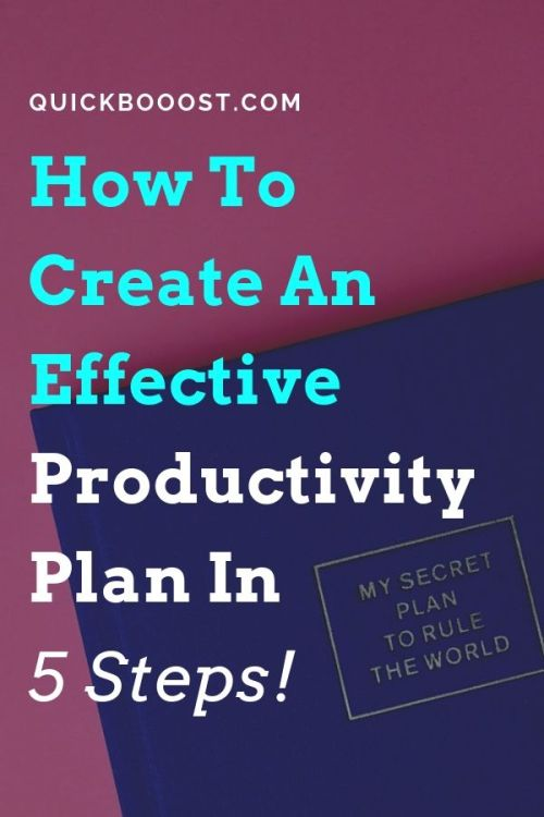 You need a productivity plan! Not sure what it is or how to create one though? This post is for you. Learn how to create a productivity plan and start doing more with your time.