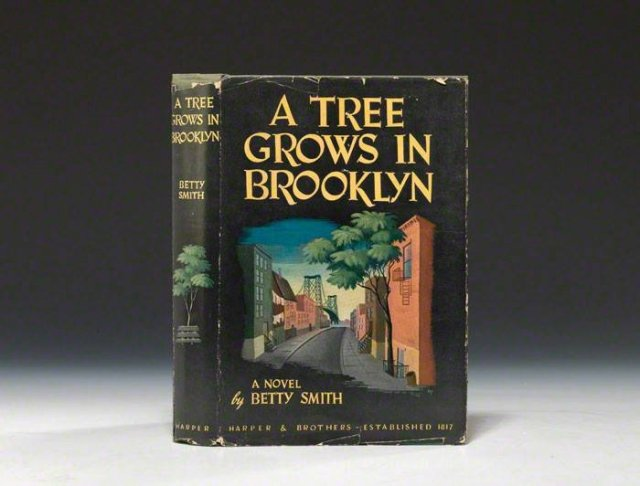 A copy of the book, A Tree Grows in Brooklyn.