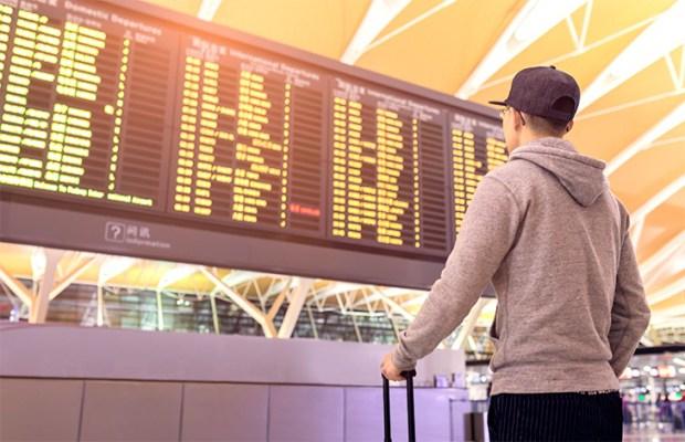 E se houverem problemas com o voo?