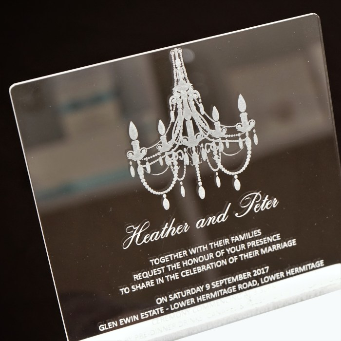 Wedding Invitations Clear Acrylic Chandilier