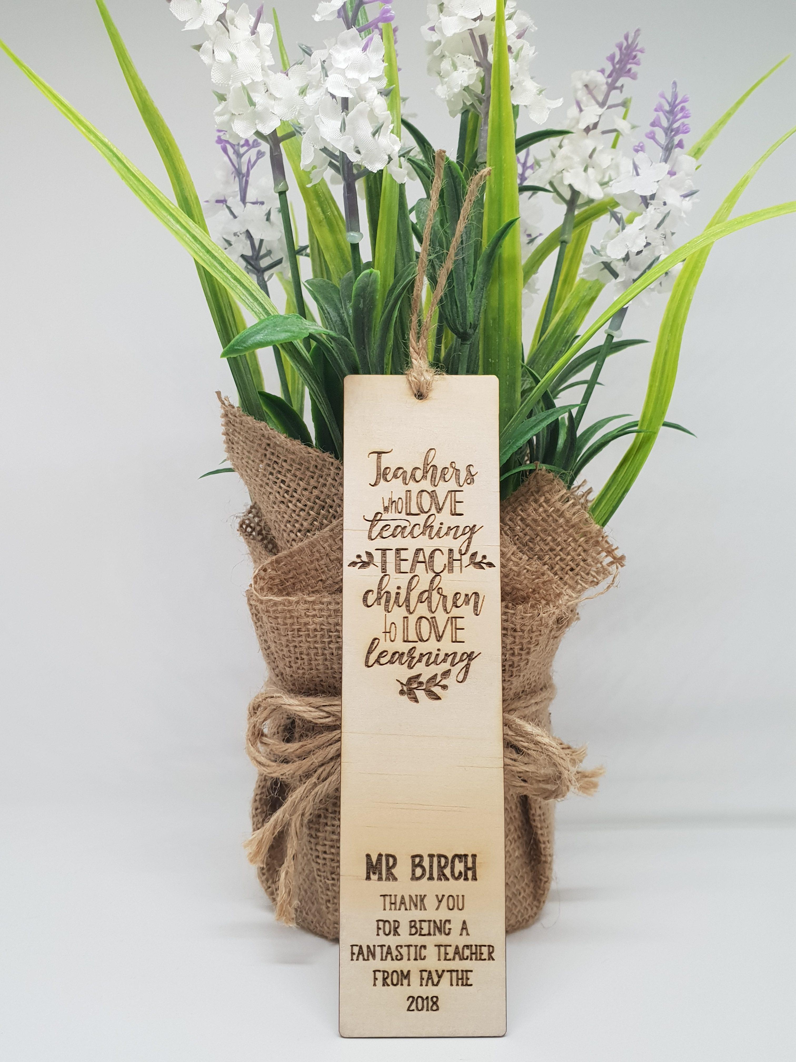 Wooden Bookmark Teacher Gift