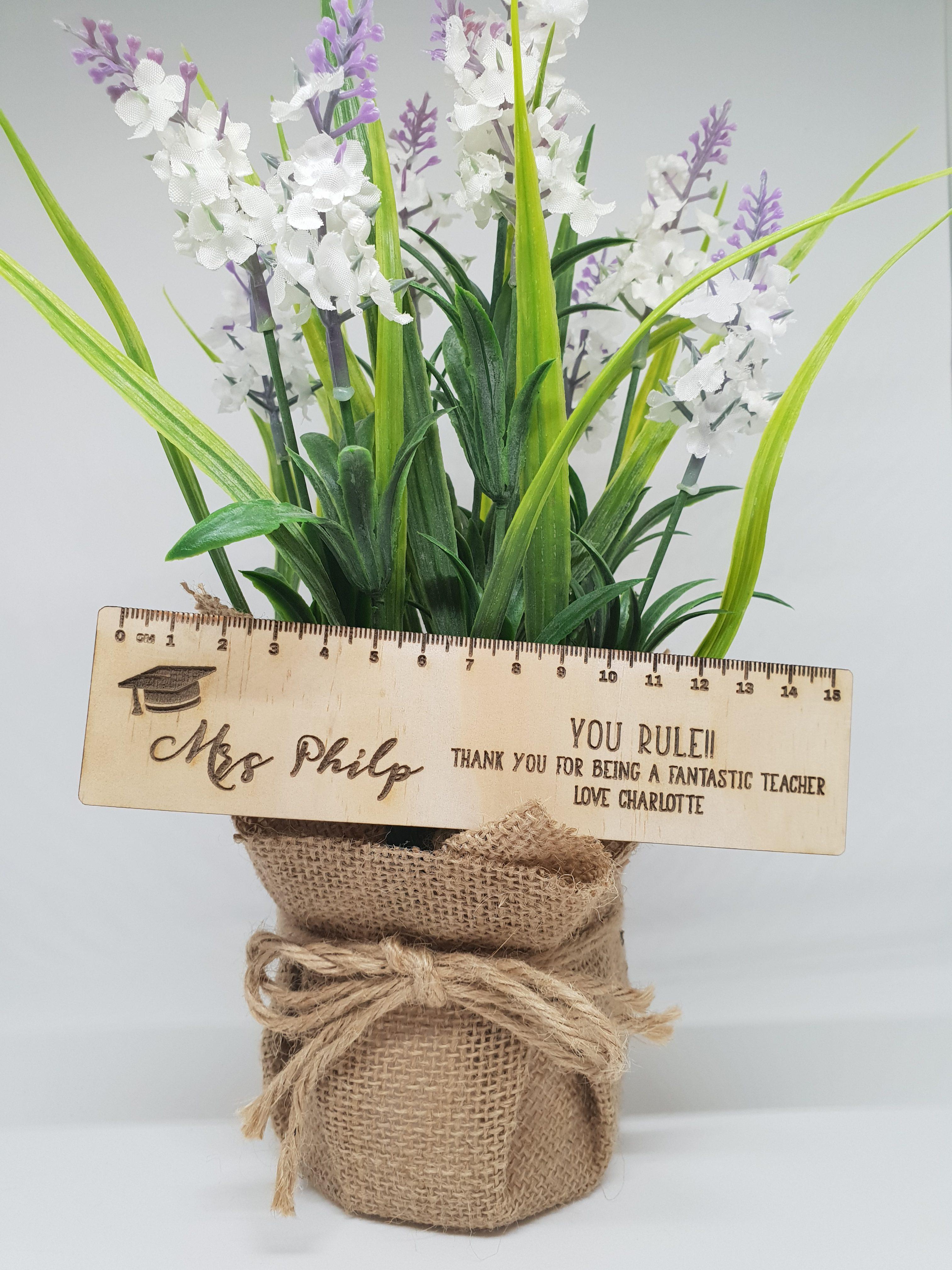 Wooden Ruler Teacher Gift