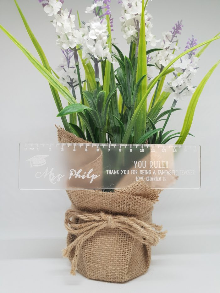 Frosted Clear Ruler Teacher Gift