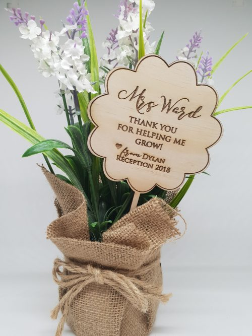 Wooden Flower Teacher Gift