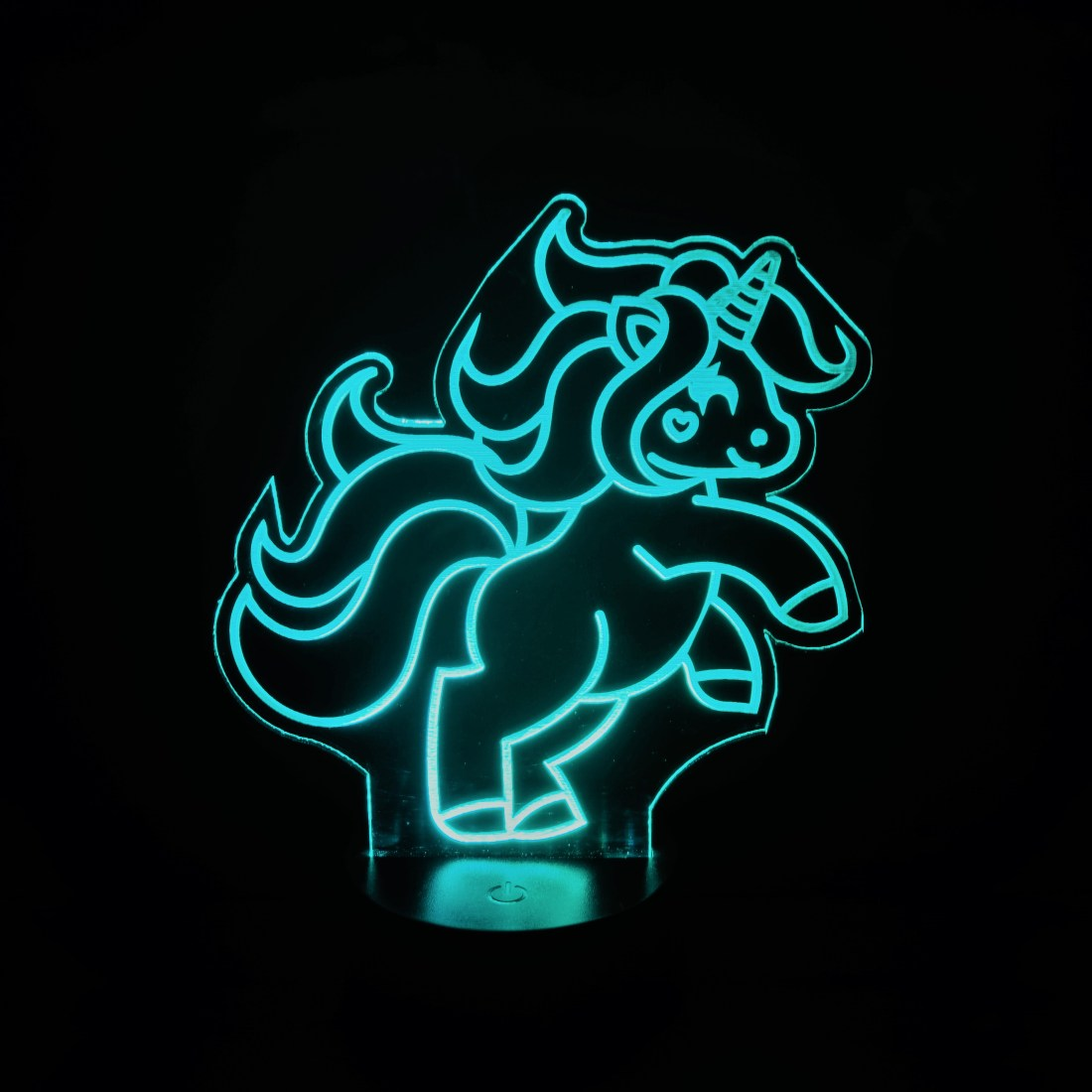 Teal Unicorn Nightlight
