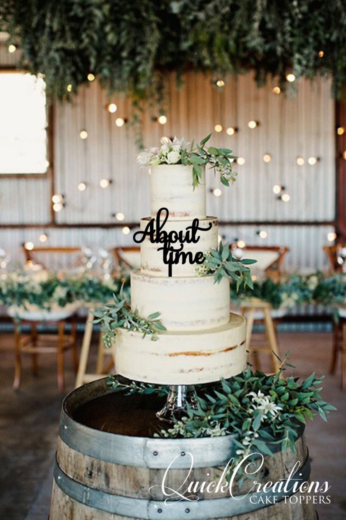 Quick Creations Cake Topper - About Time