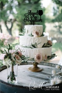 Quick Creations Cake Topper - Aged to Perfection