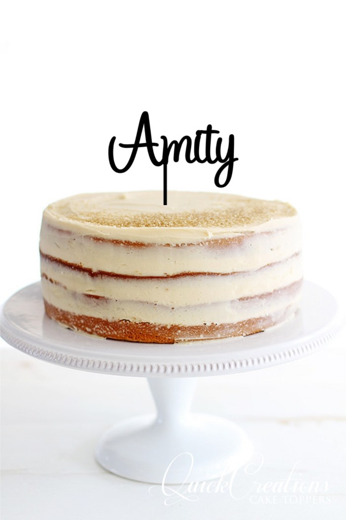 Quick Creations Cake Topper - Amity