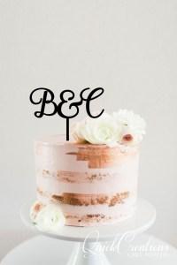 Quick Creations Cake Topper - B&C Initials