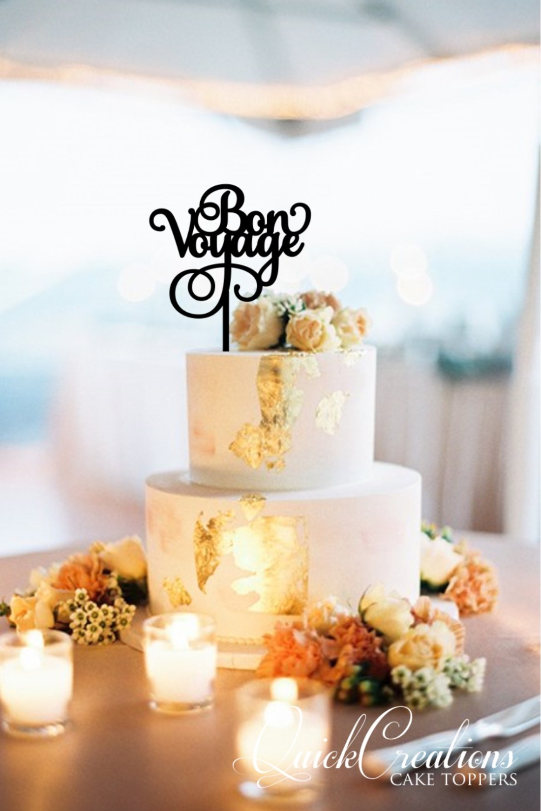 Quick Creations Cake Topper- Bon Voyage