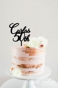 Quick Creations Cake Topper - Carla's 50th