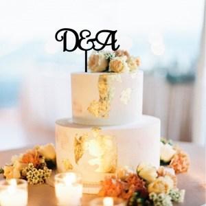 Quick Creations Cake Topper D & A Initials