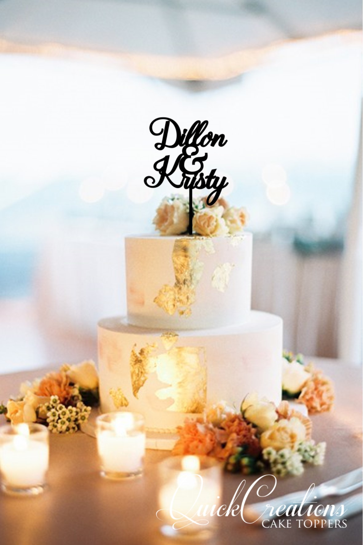 Quick Creations Cake Topper - Dillan & Kristy