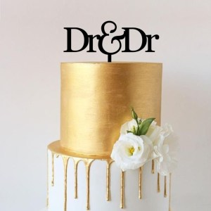 Quick Creations Cake Topper - Dr & Dr