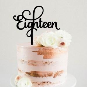 Quick Creations Cake Topper - Eighteen