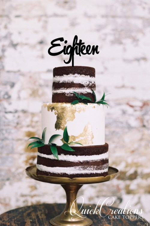 Quick Creations Cake Topper - Eighteen v2