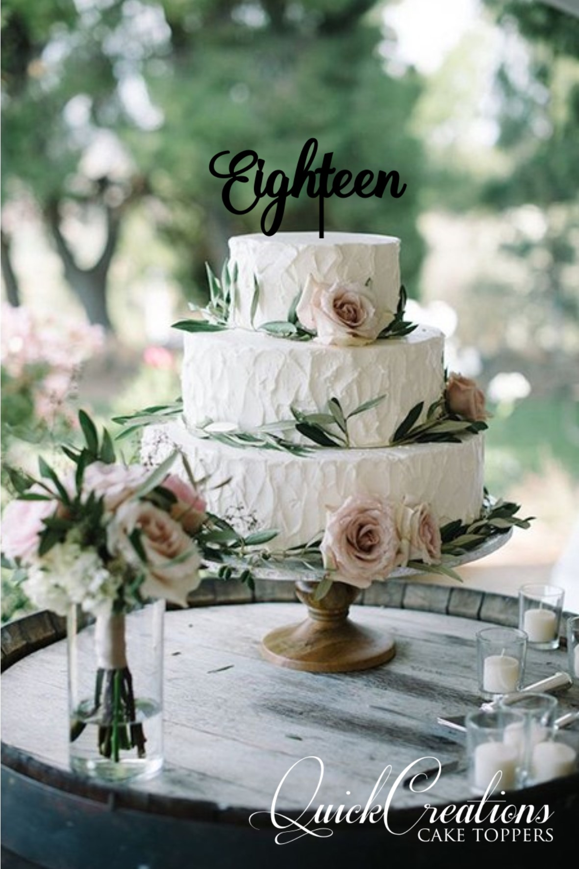 Quick Creations Cake Topper - Eighteen v3