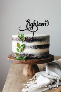 Quick Creations Cake Topper - Eighteen v4