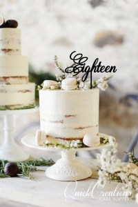 Quick Creations Cake Topper - Eighteen v6
